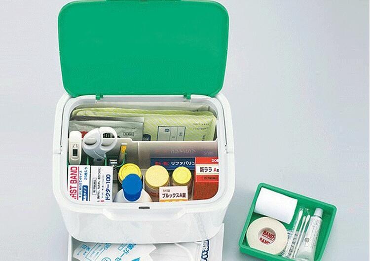 Japan importiert haushalt medizin box, tragbare multi tier erste-aid kit, medizin box, haushalt box.