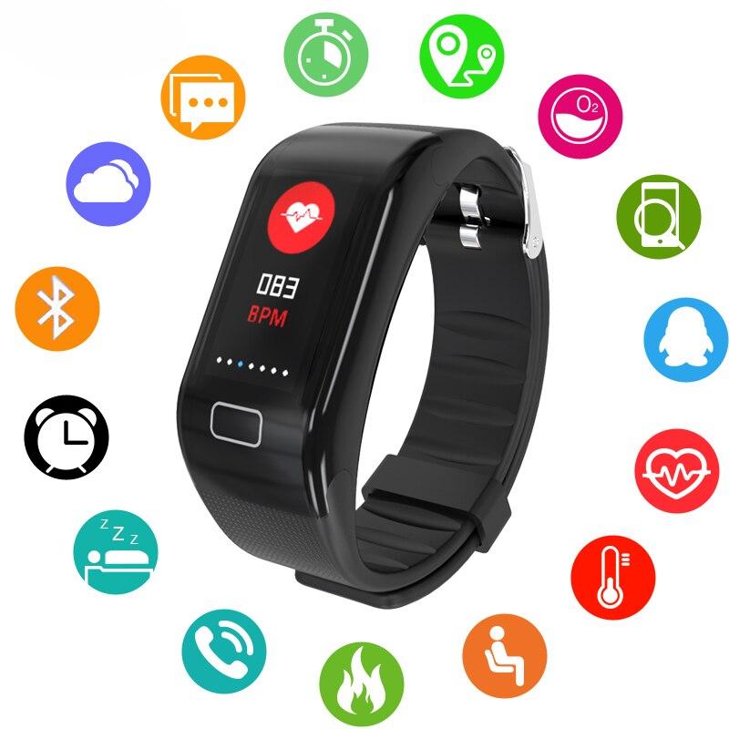 BANGWEI Männer Frauen Sport wasserdichte Smart Armband Uhr Bluetooth Uhr Herz Rate Blutdruck sauerstoff Schlaf Monitor Schrittzähler