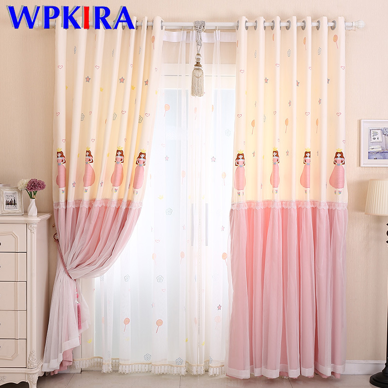 Lovely Sweet Princess Design Semi Shading Curtain For Baby Girls