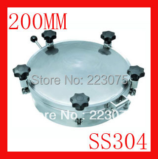 New arrival 200mm SS304 Circular manhole cover with pressure Round manway door Height:100mm Hatch new arrival 450mm ss304 circular manhole cover without pressure height 100mm tank hatch