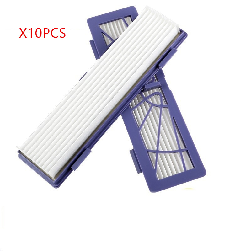 10 pcs/lot HEPA filters Replacement for Neato BotVac 70e 75 80 85 neato botvac D75 D80 D85 D3 D5 Robotic Vacuum Cleaner Parts 4x silicone blades 4x brush 1x beater bearing replacement for neato botvac 70e 75 80 85 automatic vacuum cleaner robots