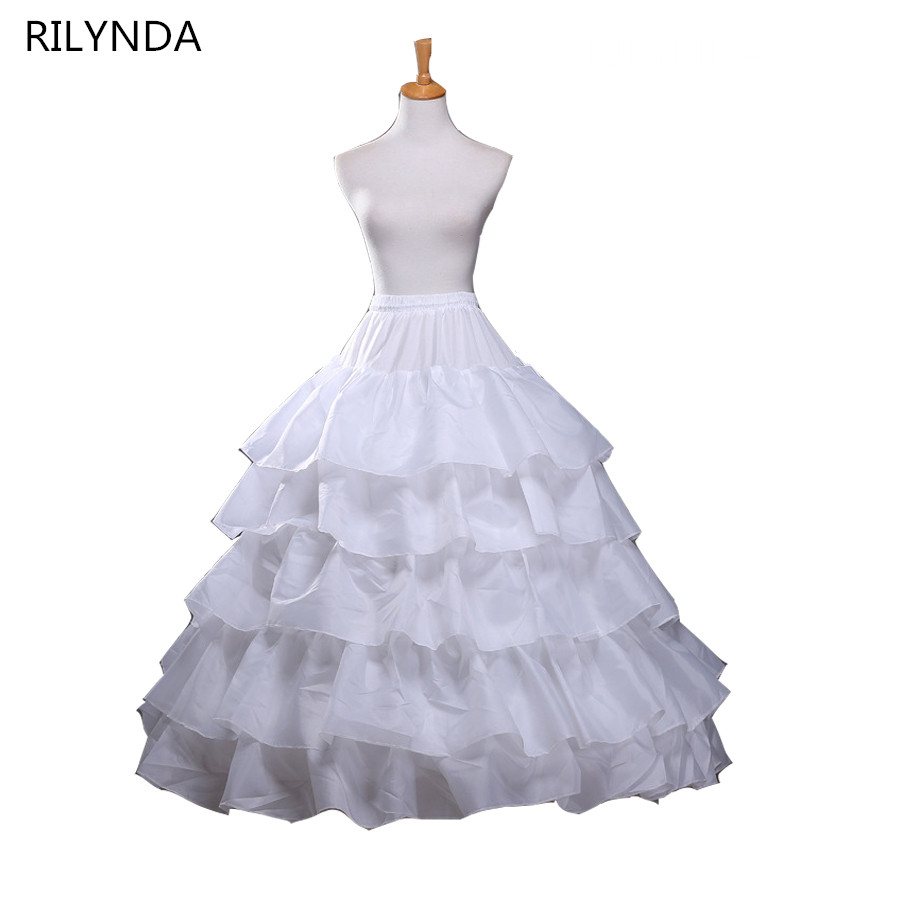 Hot Sale 4 Hoops Ball Gown Petticoats For Wedding Dress