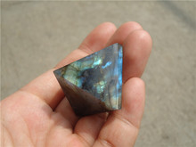 Natural Moonstone natural labradorite pyramid Decoration LA1121