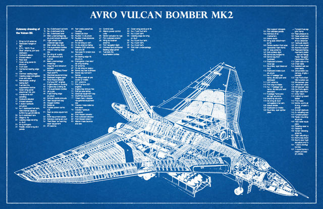 Online shop avro vulcan b mk2 british airplane blueprints sci fi avro vulcan b mk2 british airplane blueprints sci fi retro vintage kraft poster canvas painting wall sticker home decor gift malvernweather Images
