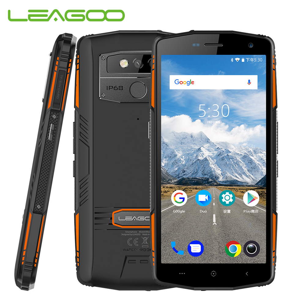 LEAGOO XRover 6GB 128GB IP68 waterproof NFC Face ID 4G Smartphone Android 8 1 5000mAh 9V2A