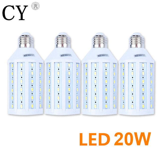 LightupFoto 4Pcs E27 220v Photo Studio Bulb 20W 5730 SMD LED Video Light Corn Lamp Bulb & Tubes Photographic Lighting