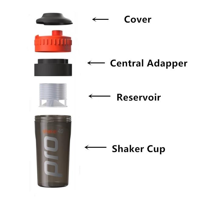 700ml Whey Protein Shaker Water Bottle Sports Nutrition Blender