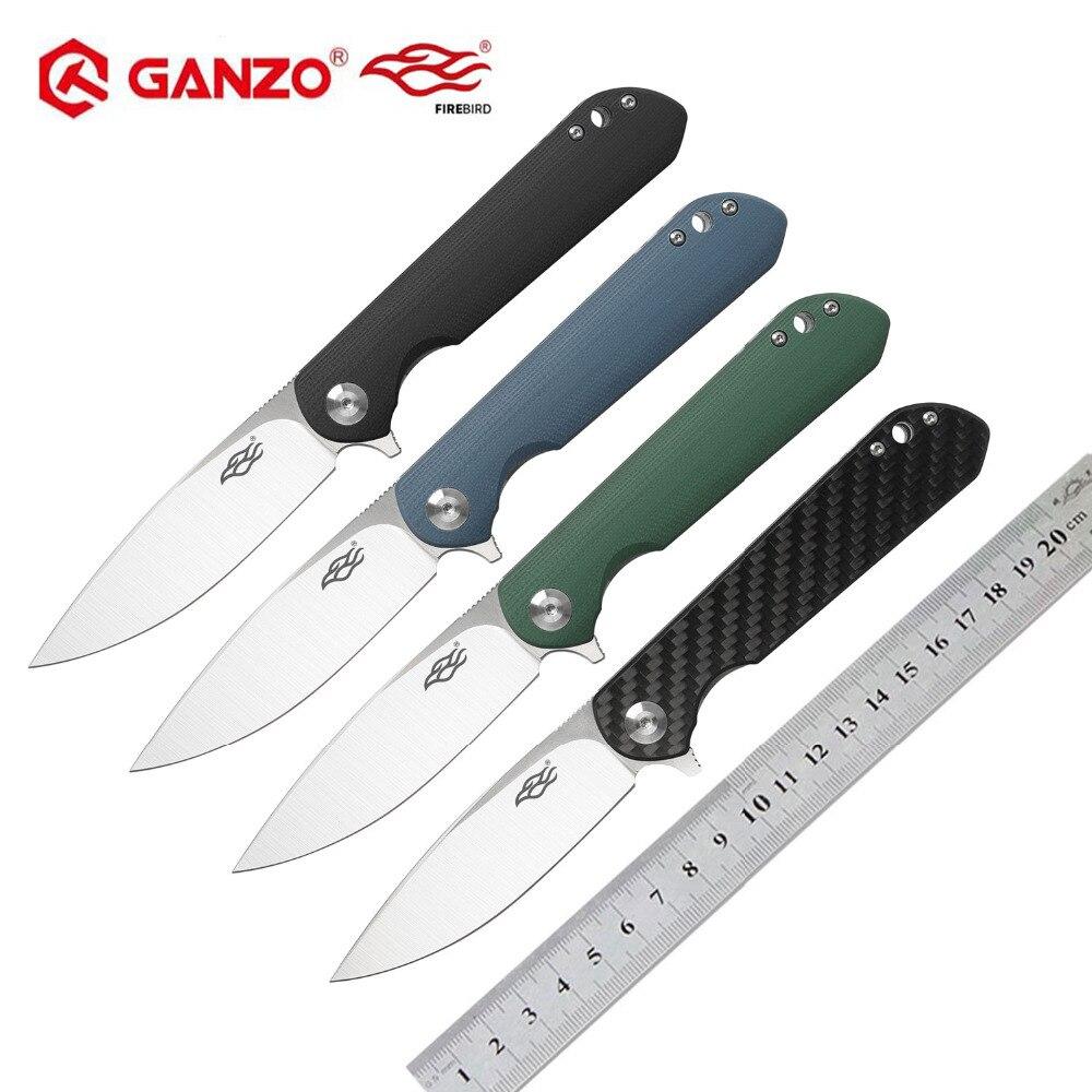 2019 Ganzo Firebird FH41 D2 lame G10 ou poignée en Fiber de carbone couteau pliant outil de survie couteau de poche tactique edc outil extérieur
