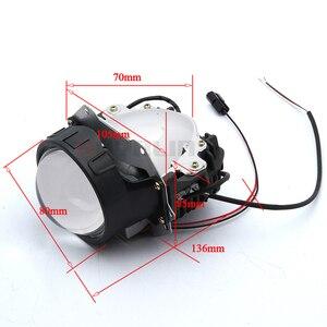 Image 3 - ROYALIN سيارة التصميم العالمي ثنائية جهاز عرض (بروجكتور) ليد المصابيح الأمامية عدسة مع رقاقة 3.0 بوصة عالية و منخفضة شعاع السيارات كشافات ضوء التحديثية