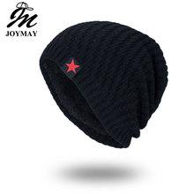 2cea2652119 Joymay 2018 Brand New Winter Autumn Beanies Hat Unisex Warm Soft Skull  Knitting Cap Hats Star