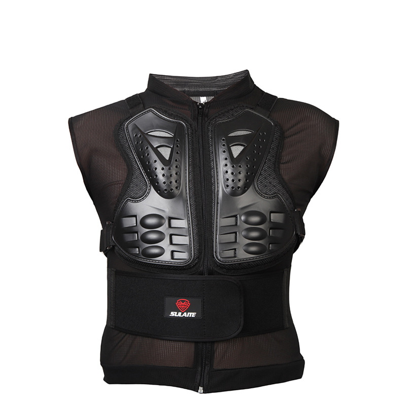 цена на Sleeveless Armor Jacket Motorcycle Racing Chest Back Protector Gear Cycling Skate Motocross Racing Body Protective Guard