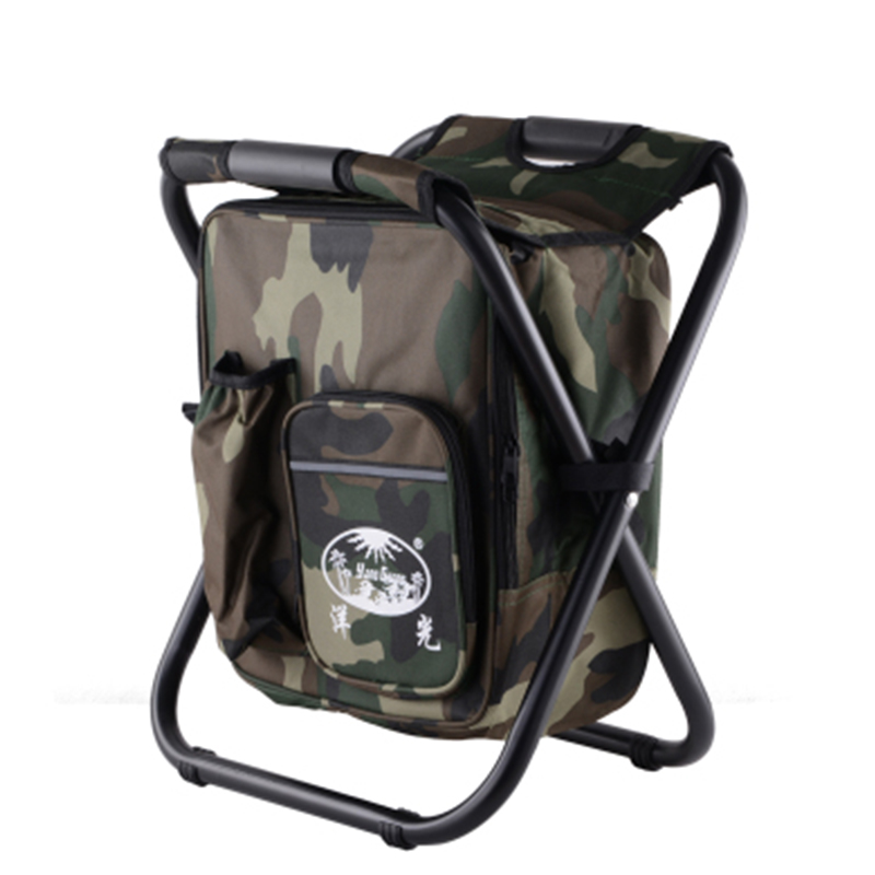 Seat Oxford Cloth Lightweight 3 In 1 Outdoor Portable Multifunctional Foldable Cooler Bag Chair Backpack Fishing Stool Chair bobing 3 in 1 outdoor portable multifunctional foldable cooler bag chair backpack fishing stool chair max load 150kg 300lb