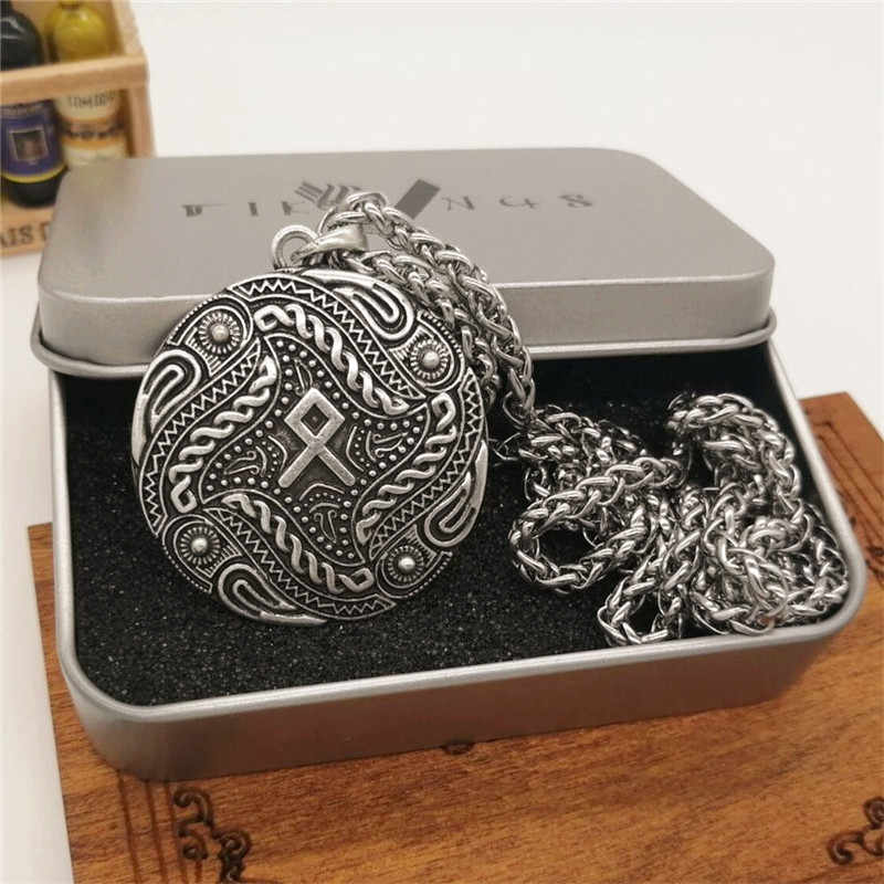 Dân Tộc Raven Rune Mặt Dây Chuyền Vòng Cổ Nam Nữ Ngoại Giáo Bắc Âu Trang Sức Viking Thả Vận Chuyển