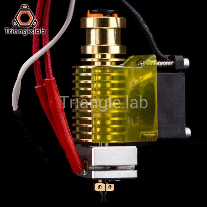 V6 gold HeatSink v6 hotend 12V/24V remote Bowen J-head and cooling fan bracket for E3D HOTEND for PT100 titan extruder V6 nozzle v6