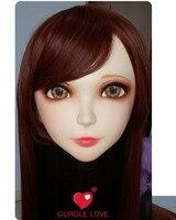 (GL009)หญิงหวานสาวเรซิ่นKigurumi BJDหน้ากากคอส