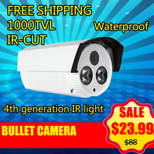 High Quality CCTV Camera 1000TVL IR Cut Filter 24 Hour Day/Night Vision Video Outdoor Waterproof IR Bullet Surveillance Camera