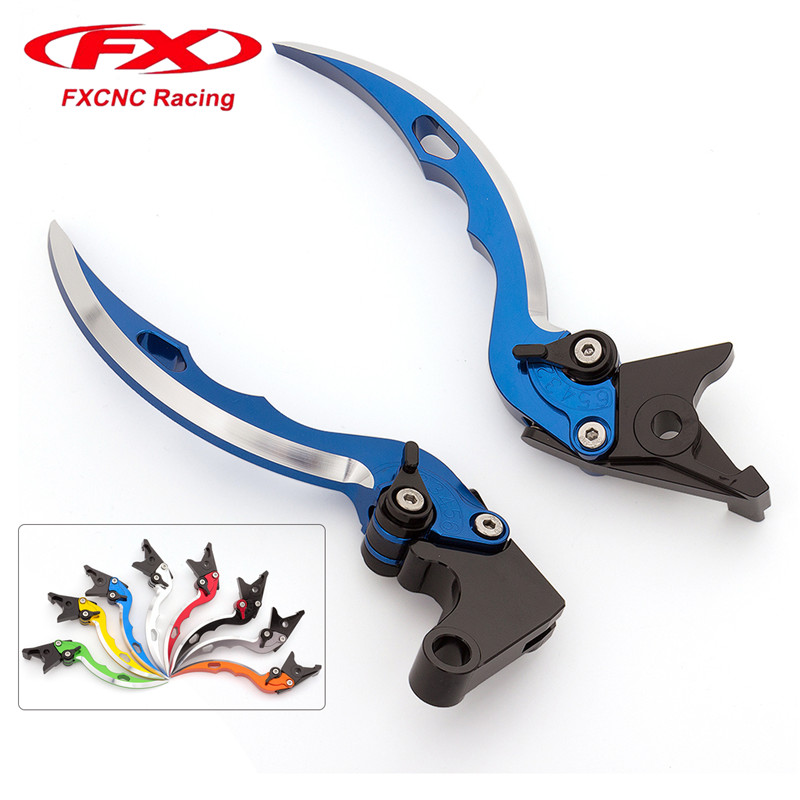 FX CNC Aluminum Adjustable Motorcycle Knife Blade Brake Clutch Levers For Yamaha TDM 900 2012 - 2014 2013 Motorcycle Accessories for royal enfield 500 2013 2017 14 15 16 knife blade cnc long brake