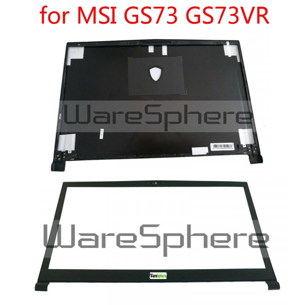 New and Original LCD Rear Lid Back Cover For MSI GS73 GS73VR Rear Case 3077B5A213 3077B1A222 Front Bezel 3077B1B214Y851 BlackNew and Original LCD Rear Lid Back Cover For MSI GS73 GS73VR Rear Case 3077B5A213 3077B1A222 Front Bezel 3077B1B214Y851 Black