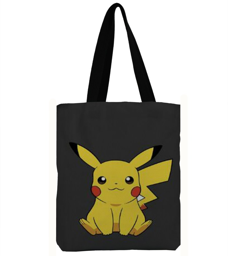 3D Printing Handbag Bolsa Pikachu Bag Canvas Beach Bags Ladies Large Shoulder Bag