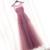 2016 Cheap Lace Bordados Vestidos De Baile Longo Rosa Sheer Voltar Pérolas Evening Formal Vestidos de Festa Vestido De Festa ballkleider