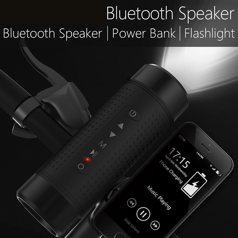 Bluetooth Lautsprecher Im Freien Fahrrad Tragbare Subwoofer Bass Drahtlose Lautsprecher Power Bank + LED licht + Bike Mount + Karabiner ForJBL