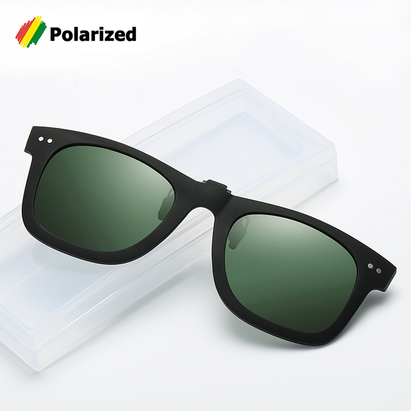 JackJad Fashion 2140 Traveler Style POLARIZED Clip On Lens Sunglasses Men Driving Fishing Flip Up Sun Glasses Night Vision Lens
