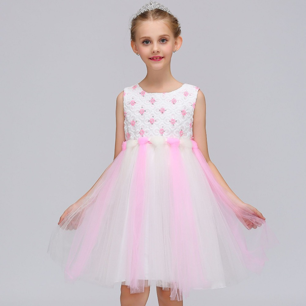 Princess 2018 New   Girl   Pageant   Dresses   With Cap Sleeves Communnion Gowns Vintage   Flower     Girl     Dresses   For Weddings