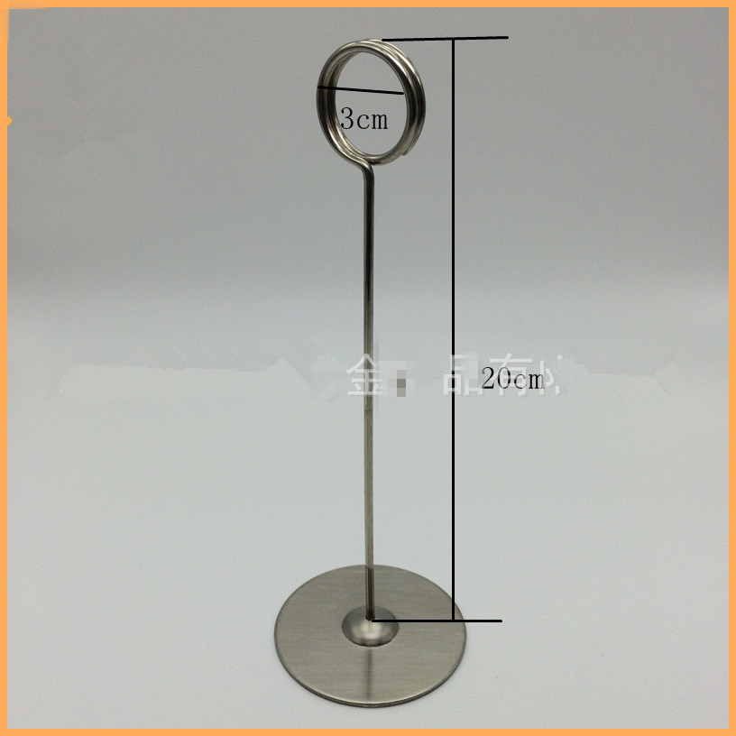 Stainless Steel Table Number Card Clips Tag Stands Table Number - Stainless steel table numbers