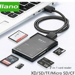 リャノ 7 で 1 USB 3.0 スマートカードリーダーフラッシュマルチメモリカード Tf/SD/MS /CF 4 カード sd/マイクロ SD/usb カード