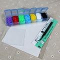 2.6 мм 7 цветов/комплект/4200 шт. perler hama бусы образования детей diy игрушка пинцет предохранителей железо бумаги комплект корабля pegboard