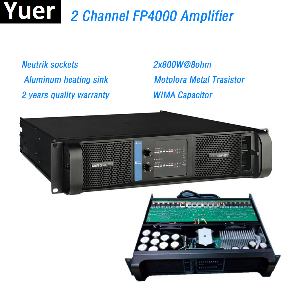 2 Channel FP4000 Amplifier Line Array Amplifier WIMA Capacitor Neutrik Sockets Line Array Professional Sound Power Amplifier