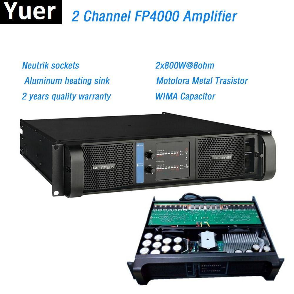 2 Channel FP4000 Amplifier Line Array Amplifier WIMA Capacitor Neutrik Sockets Line Array Professional Sound Power Amplifier