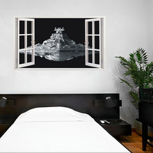 Star Wars Stickers 3D Star Destroyer Waterproof Wall Stickers Removable Wallpaper Home Decor Art Clone 60*100cm