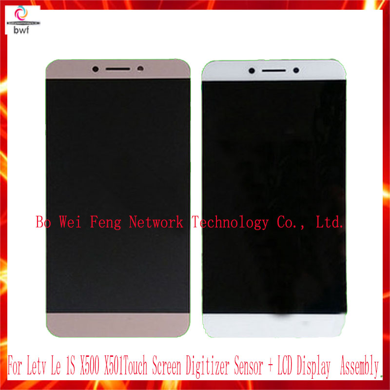 ФОТО High-quality For Letv Le 1S X500 X501 Gold/White Touch Screen Digitizer Sensor + LCD Display monitor Assembly Replacement 100%