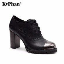 KvPhan High heels women pumps Genuine leather Patent leather 9cm sexy high-heels Rubber Pumps for women Handmade Black Shoes