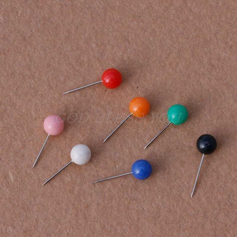 50 Pcs/Tas Multicolor Bulat Pearl Kepala Pin Memancing Baris Bros Fishing Tackle