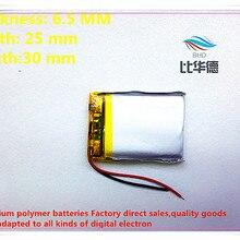 10 шт./лот) 3,7 в 652530 500 мА/ч литий-ионный полимерный аккумулятор качество товаров Сертификация CE FCC ROHS