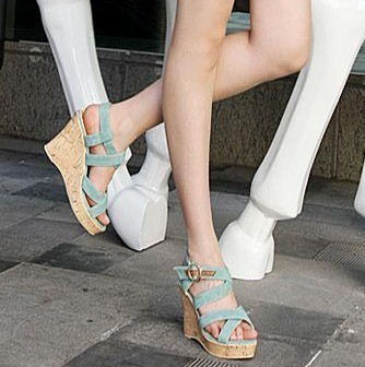 2013 fashion sexy summer sandals toe platform wedges shoes open toe high-heeled shoes female