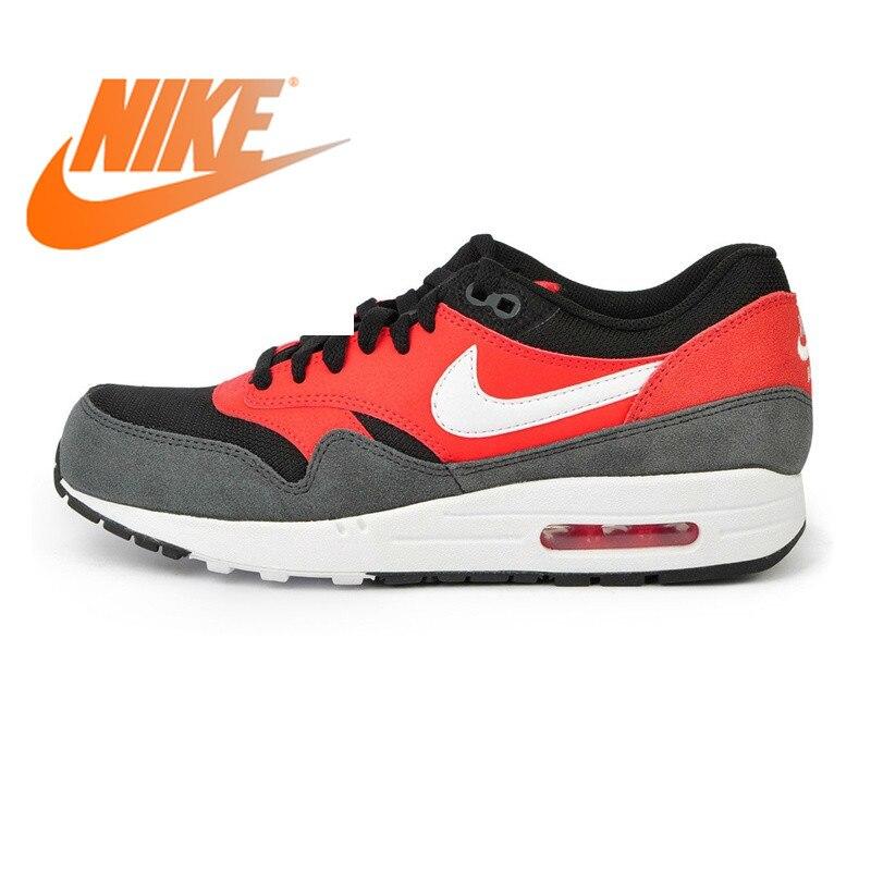 Officiel Original NIKE AIR MAX 1 essentiel chaussures de course pour hommes baskets Nike chaussures hommes respirant amorti confortable 537383