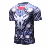 Superman 3D Gedruckt T-shirts Manner Compression Shirts Kurzarm Lustige Cosplay kostum Fitness Bodybuilding Mannlichen Crossfit