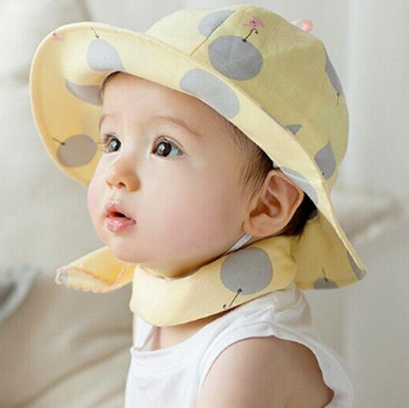 9c5b2c57f76 Korean summer infant children Fisherman Hat Cotton Baby sun hat virgin baby  girl boy beach hat cap child pot beanies