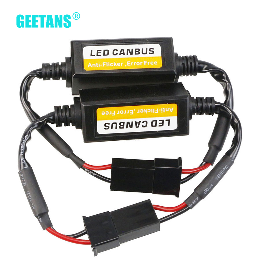 GEETANS Car LED Error Free Decoder Canceller Canbus Headlight H7 H4 H11 H1 H13 H3 9004 9005 9006 HB1 HB4 HB3 HB5 H10 881 CA