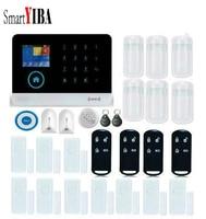 SmartYIBA House DIY Wireless GSM WIFI Alarm Glass Break Fire Smoke Sensor For APP control Home Security Alarm System