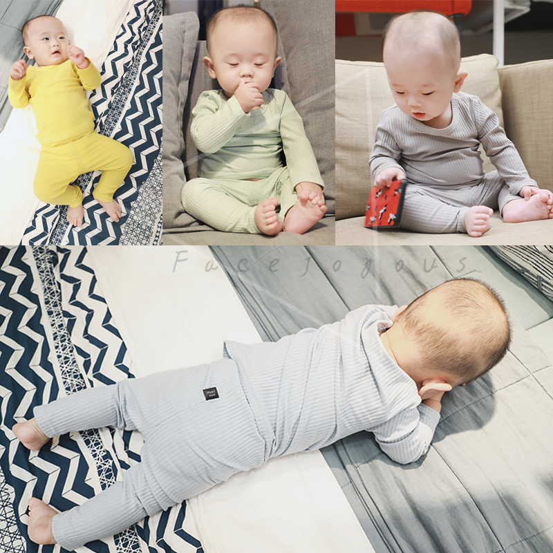 Bebé Ropa 2 unidades Set niños manga larga T-shirt + Leggings pantalones traje niños pijamas conjuntos para niños inicio desgaste