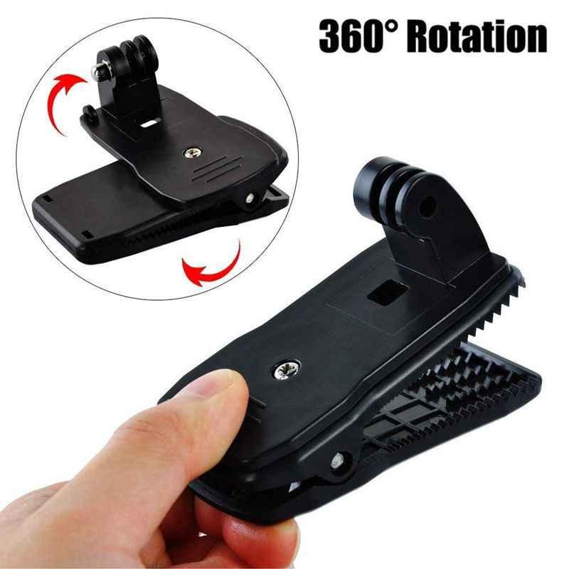 Action Camera Clip dla GoPro Hero 8 7 6 5 4 uchwyt 360 stopni obrotowy klip plecak do montażu na sesji 3 + 3 SJCAM SJ4000 Garmin