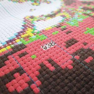 """Image 4 - """"Peach cat"""" Del Fumetto Contato kit punto croce 14ct 11ct tessuto stampato tela di canapa del ricamo cucito FAI DA TE di Alta Qualità FishXX"""