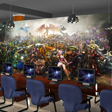 beibehang papel de parede 3d perspective cafe bar lol game wallpaper backdrop wallpaper murals wallpaper League of Legends(China)