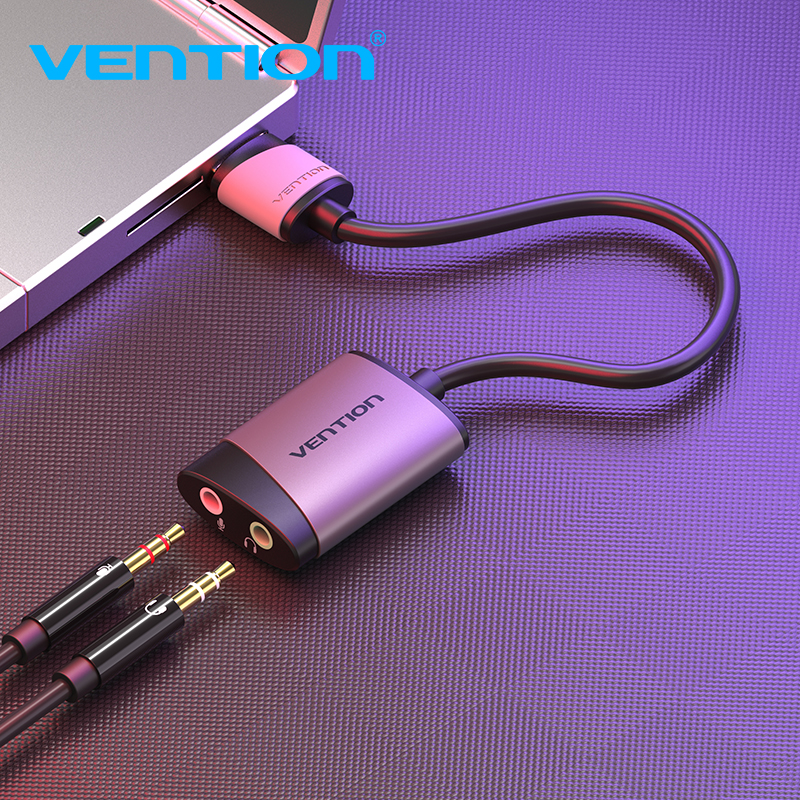 vention sound card usb to jack adapter usb audio interface external sound card for pc ps4. Black Bedroom Furniture Sets. Home Design Ideas
