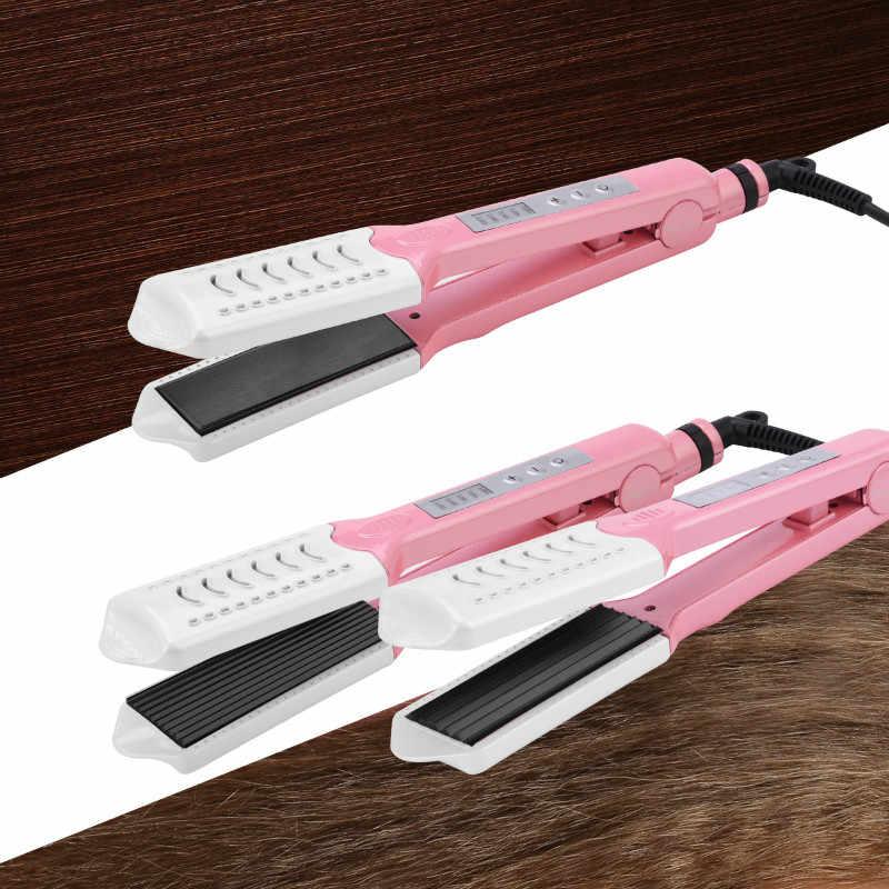 3 в 1 Электрический для завивки, выпрямления волос керамический гофрированный плоский утюжок локон волос щипцы пластина Кукуруза гофрированного железа выпрямление