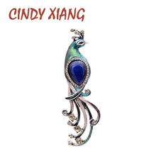CINDY XIANG 3 Colors Choose Opal Rhinestone Peacock Brooches For Women Vintage Elegant Brooch Pin Animal Jewelry Autumn Design цена в Москве и Питере